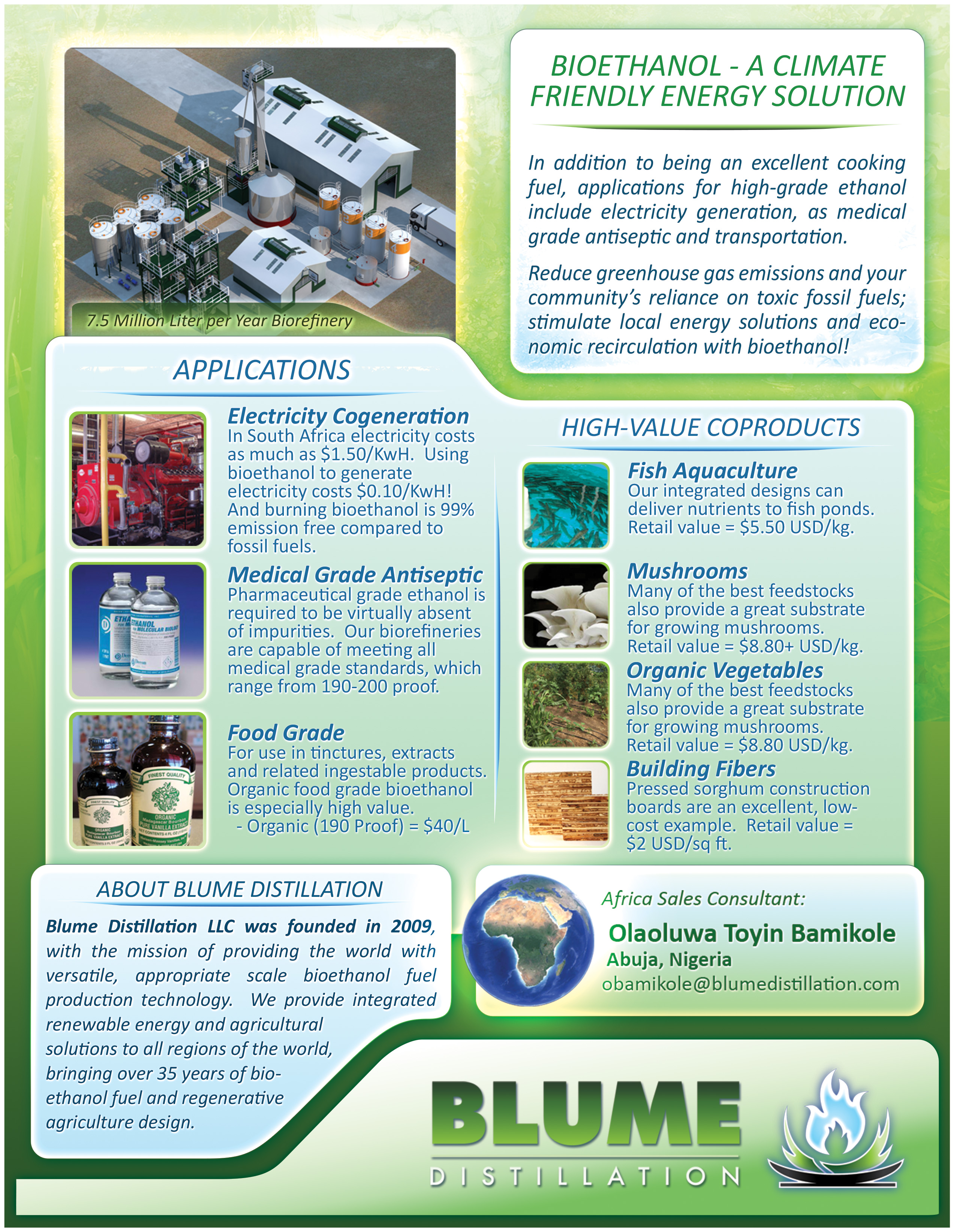 BLUME DISTILLATION – Advanced Biorefinery Systems